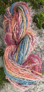 Natural dyed and hand spun yarn 2008