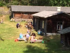 Kehräyskurssi Puumalassa Liehtalanniemen eko-museolla 16-17.7 ja 18-19.7.2015